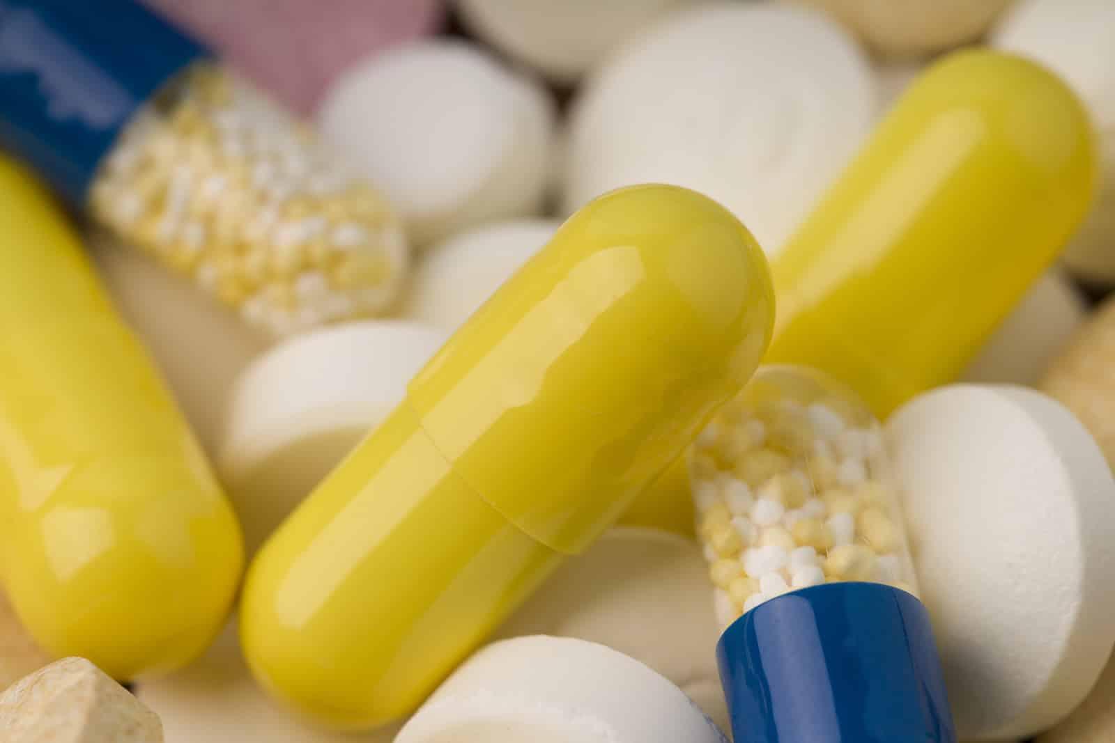 Heap of medical pills